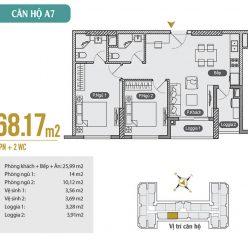 Mặt bằng căn hộ A7 chung cư Anland Premium