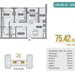 Mặt bằng căn hộ A9 – B10 chung cư Anland Premium