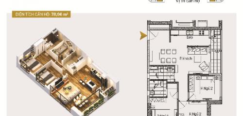 Căn hộ A05 và B05: 3 phòng ngủ diện tích 78,96m2