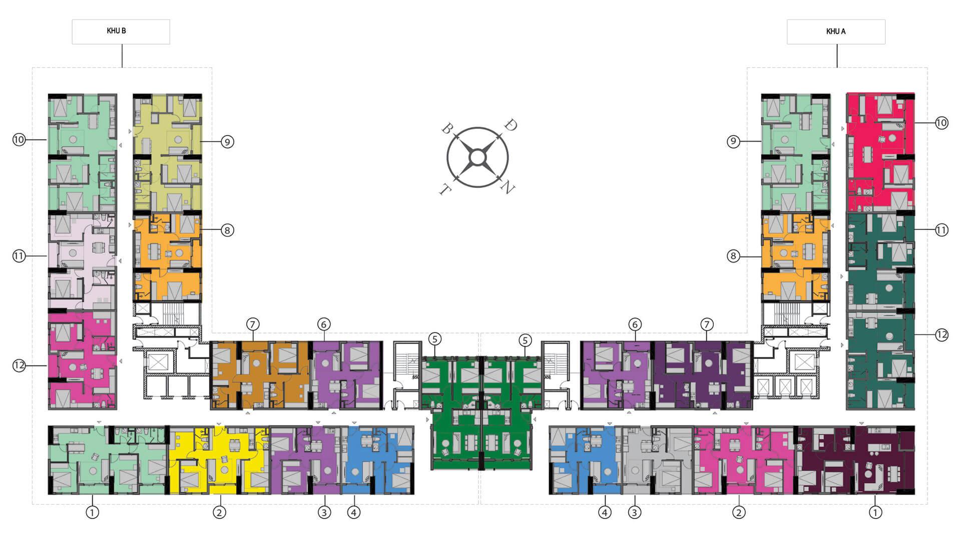 Mặt bằng thiết kế chung cư Anland Complex Dương Nội