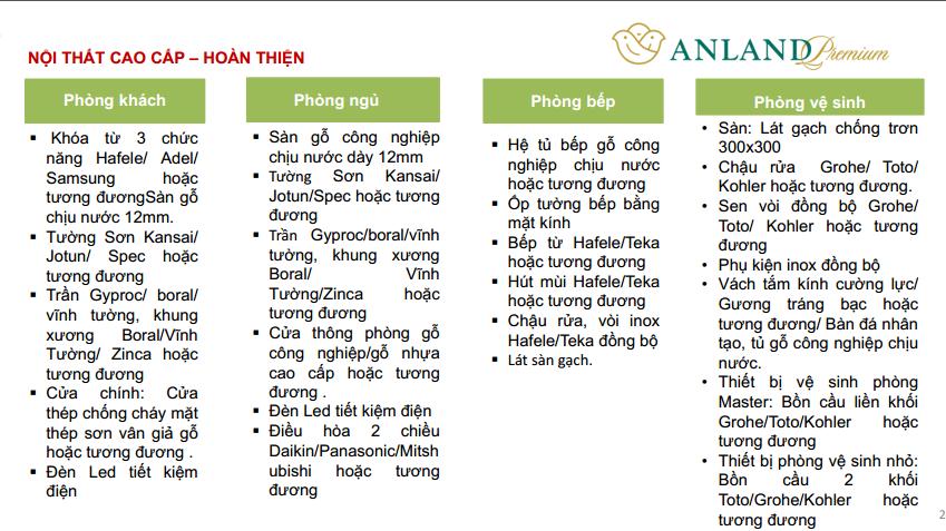 Nội thất bàn giao chung cư Anland Premium