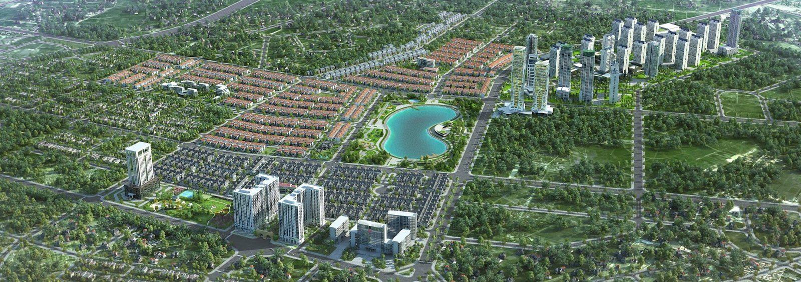 Phối cảnh tổng thể Khu đô thị Dương Nội - Anland Premium (chung cư Anland 2)