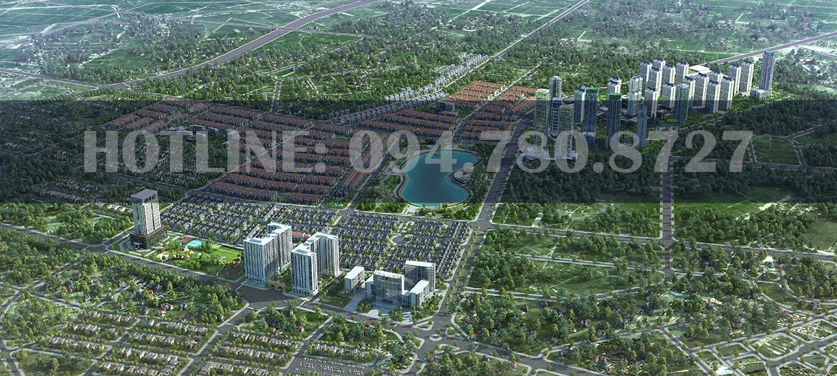 Phối cảnh tổng thể khu đô thị Dương Nội, và khu vực chung cư Anland Premium